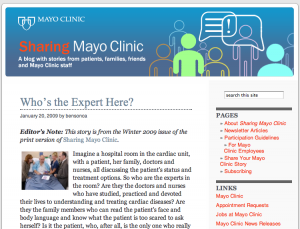Sharing Mayo Clinic