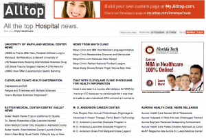 Alltop Top Hospital News Page
