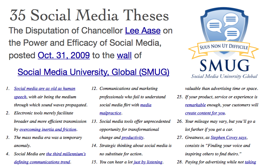 35 social media theses pdf social media university global ever since i posted the 35 social media theses 492 years after martin luther posted his 95 i have planned to put them in a one page pdf to make them more fandeluxe Gallery