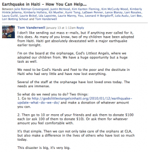 Haiti Earthquake Relief Appeal