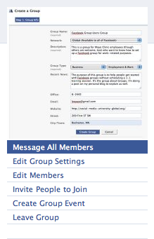 how to send a group message on facebook