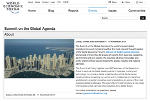WEF Global Agenda Screen Shot