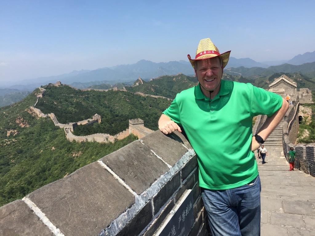 Lee at Great Wall